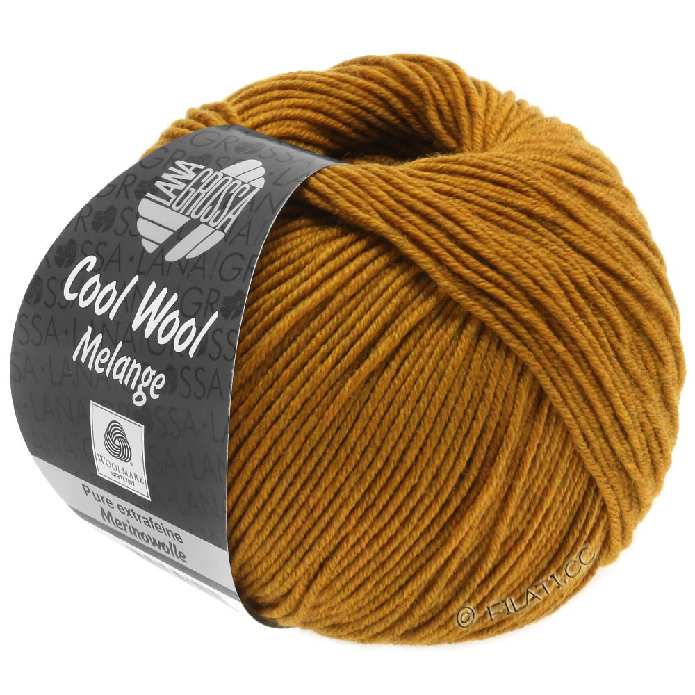 Lana Grossa COOL WOOL   Uni/Melange/Neon | 0143-ambra puntinato