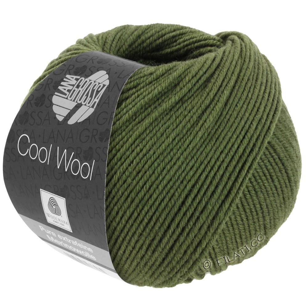 Lana Grossa COOL WOOL   Uni/Melange/Neon | 2042-oliva scuro