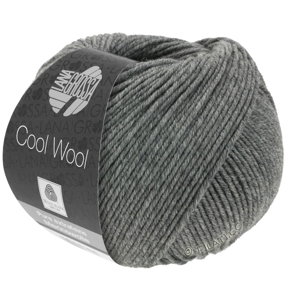 Lana Grossa COOL WOOL   Uni/Melange/Neon | 0412-grigio scuro puntinato