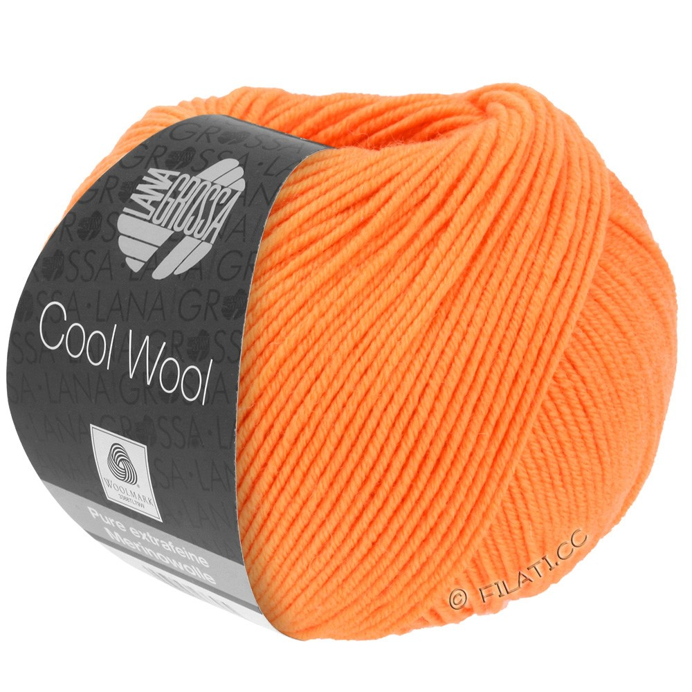 Lana Grossa COOL WOOL   Uni/Melange/Neon | 0418-mandarino