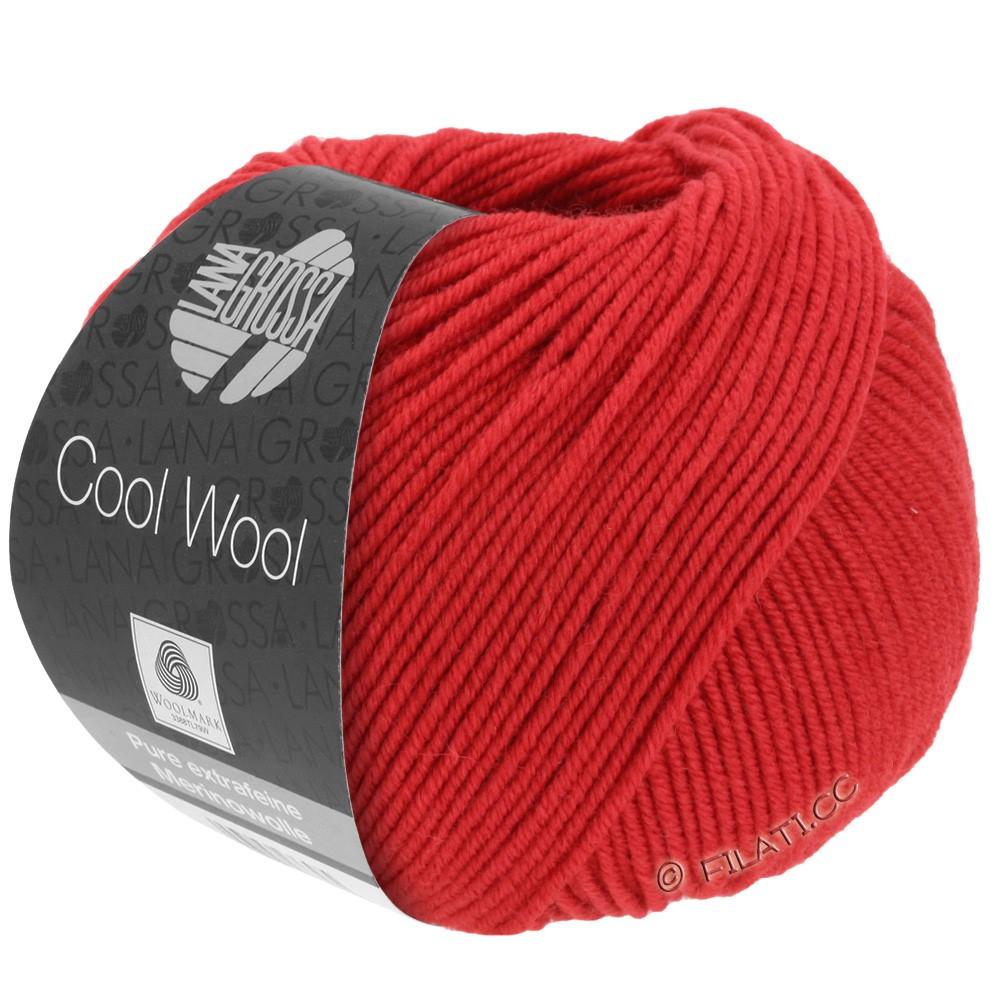 Lana Grossa COOL WOOL   Uni/Melange/Neon | 0437-rosso carminio
