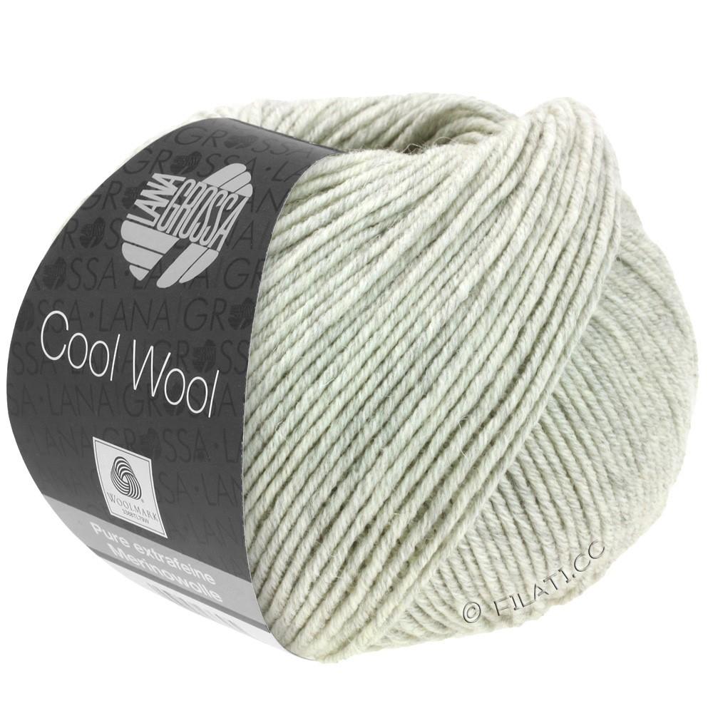 Lana Grossa COOL WOOL   Uni/Melange/Neon | 0443-grigio chiaro puntinato
