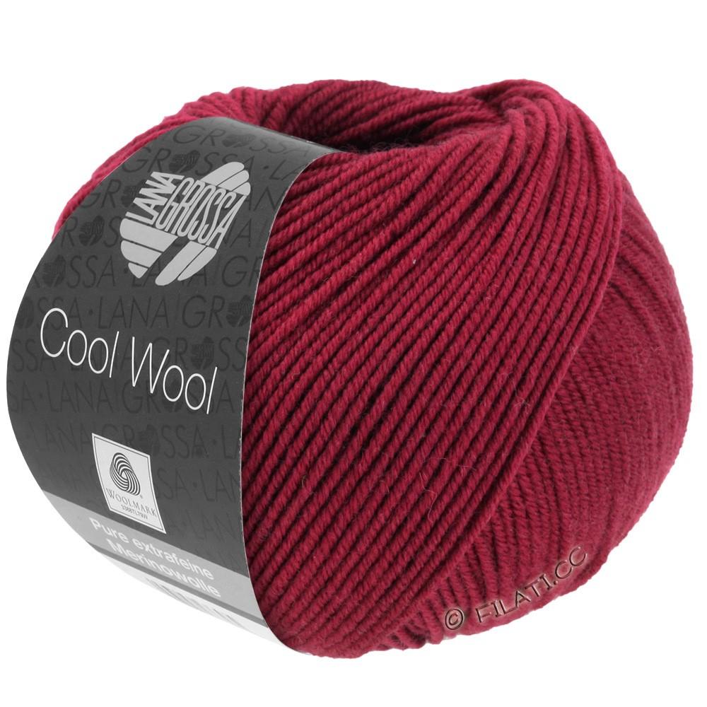 Lana Grossa COOL WOOL   Uni/Melange/Neon | 0468-rosso vino