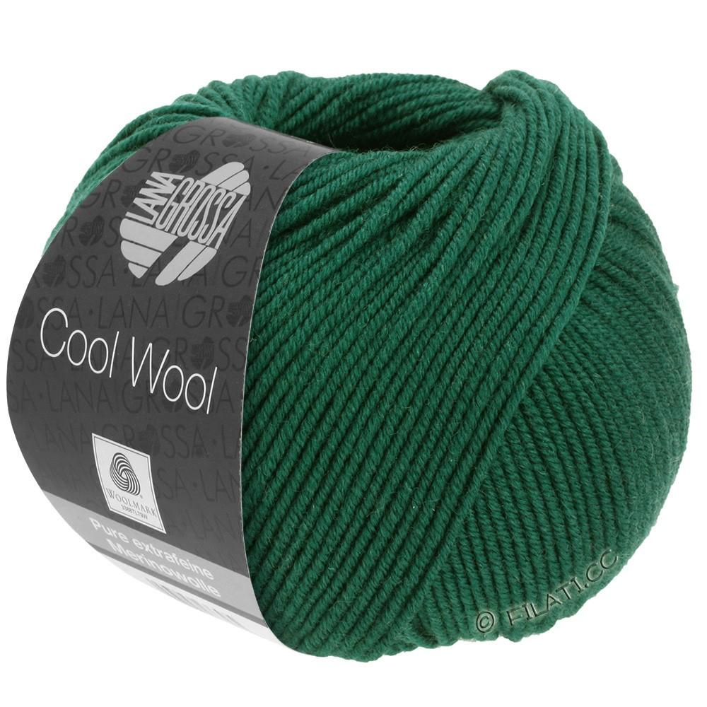 Lana Grossa COOL WOOL   Uni/Melange/Neon | 0501-verde bottiglia