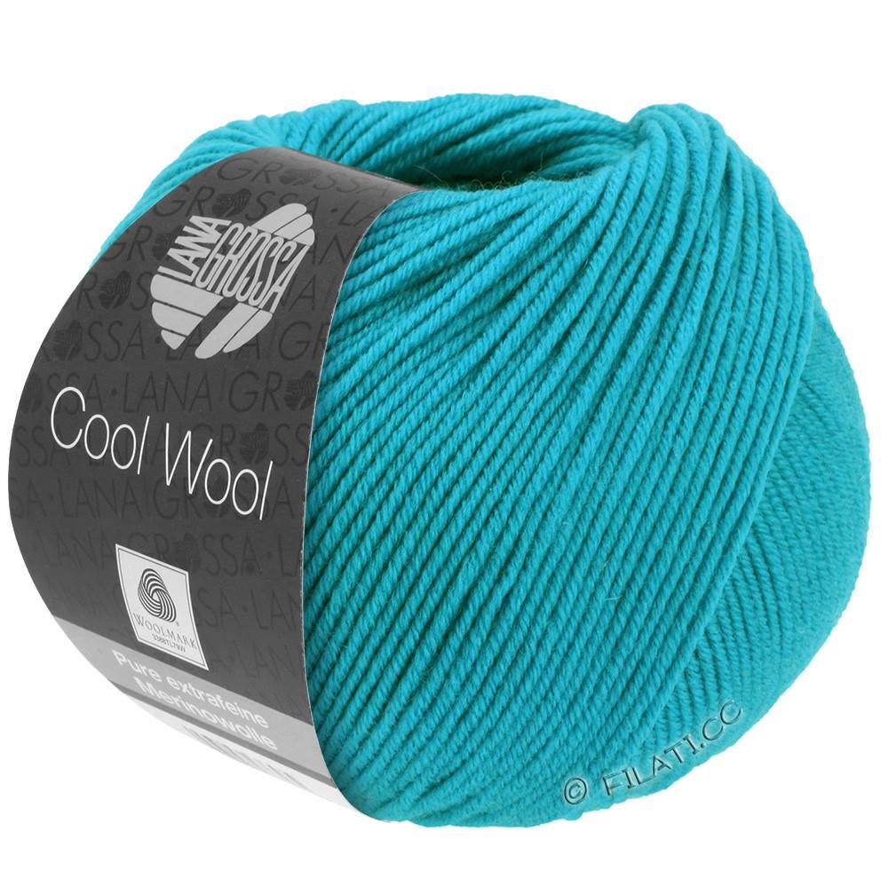 Lana Grossa COOL WOOL   Uni/Melange/Neon | 0502-blu turchese