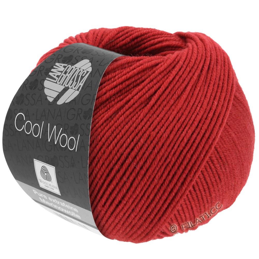 Lana Grossa COOL WOOL   Uni/Melange/Neon | 0514-rosso scuro