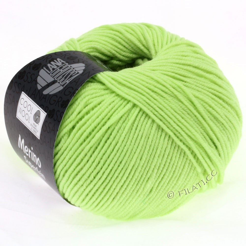 Lana Grossa COOL WOOL   Uni/Melange/Neon | 0540-verde pallido