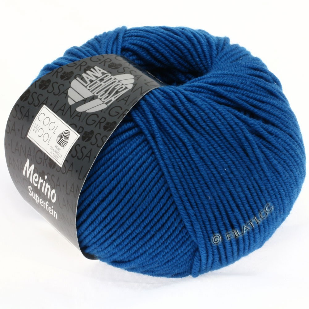 Lana Grossa COOL WOOL   Uni/Melange/Neon | 0598-blu ottanio