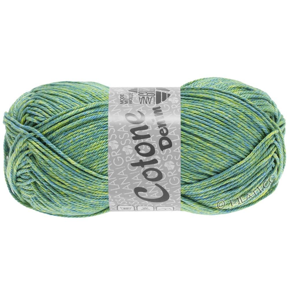 Lana Grossa COTONE  Print/Denim | 705-verde blu/verde giallo/lime