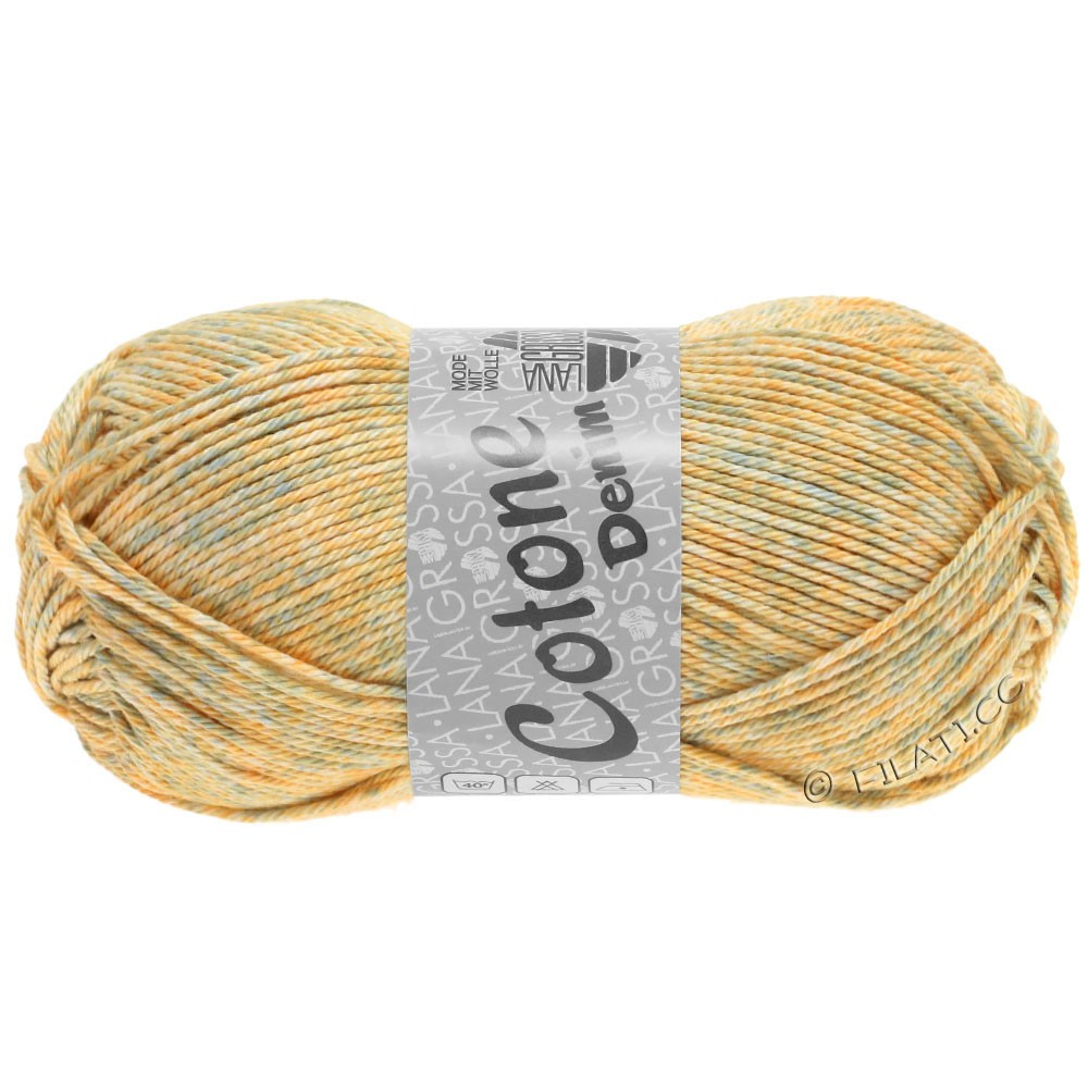 Lana Grossa COTONE  Print/Denim | 706-beige/grigio delicata