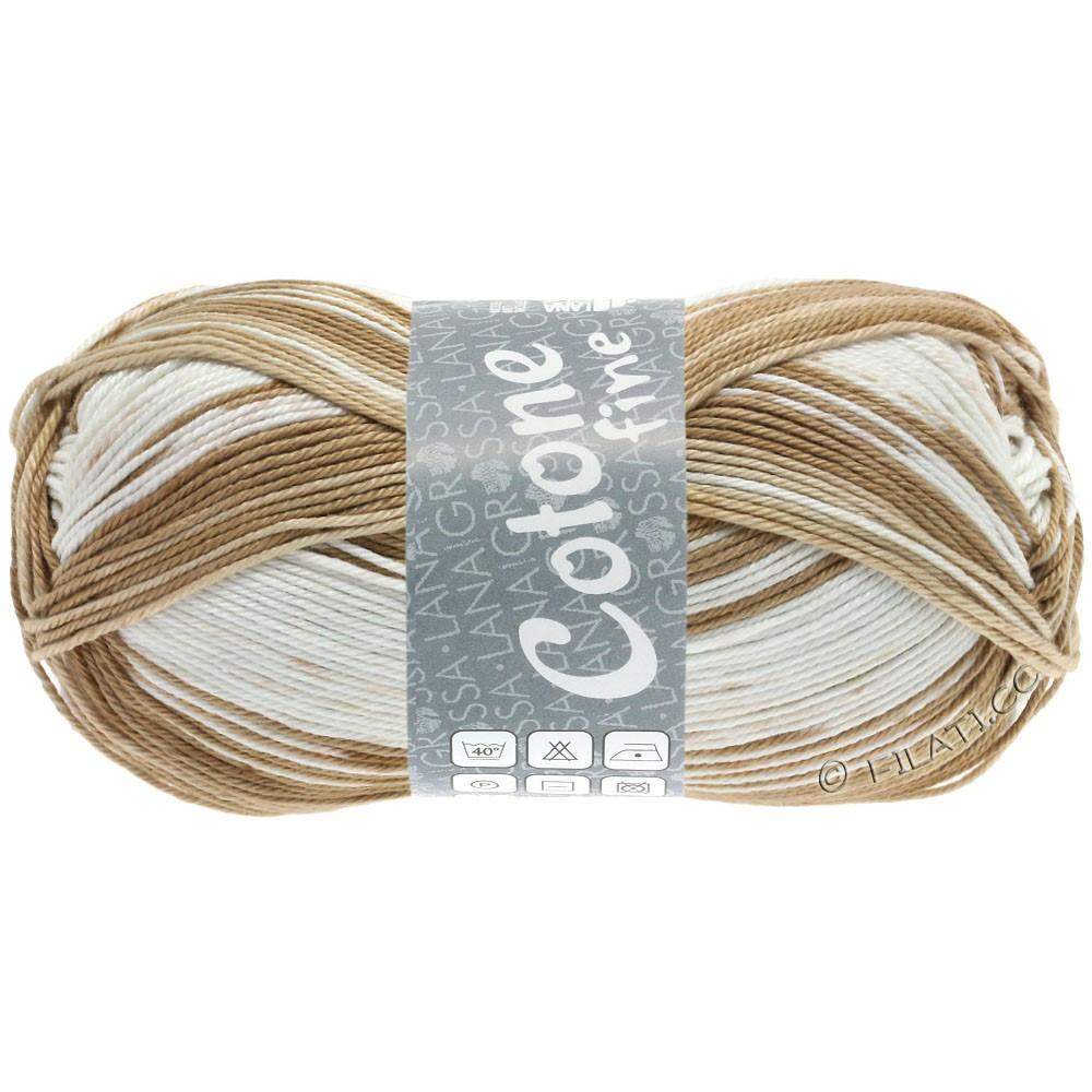 Lana Grossa COTONE FINE Print | 808-beige chiaro/sabbia/torrone