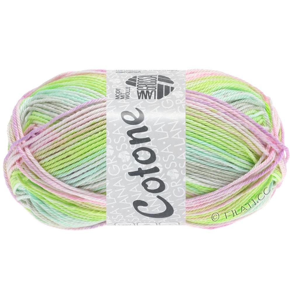 Lana Grossa COTONE  Print/Denim | 251-verde delicata/grigio delicata/rosé/lilla chiaro/giallo verde