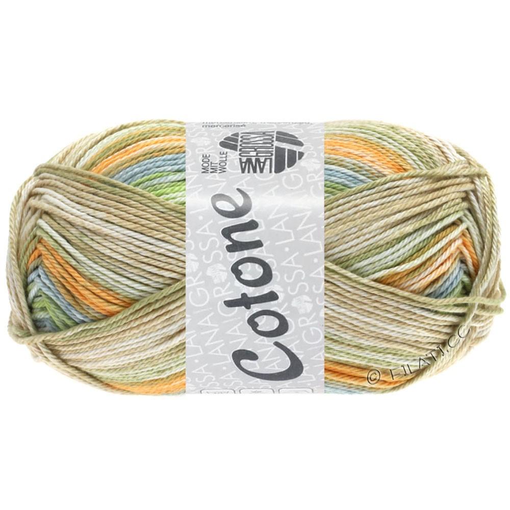 Lana Grossa COTONE  Print/Denim | 252-arancio pallido/grigio blu/beige/verde delicata/cachi chiaro