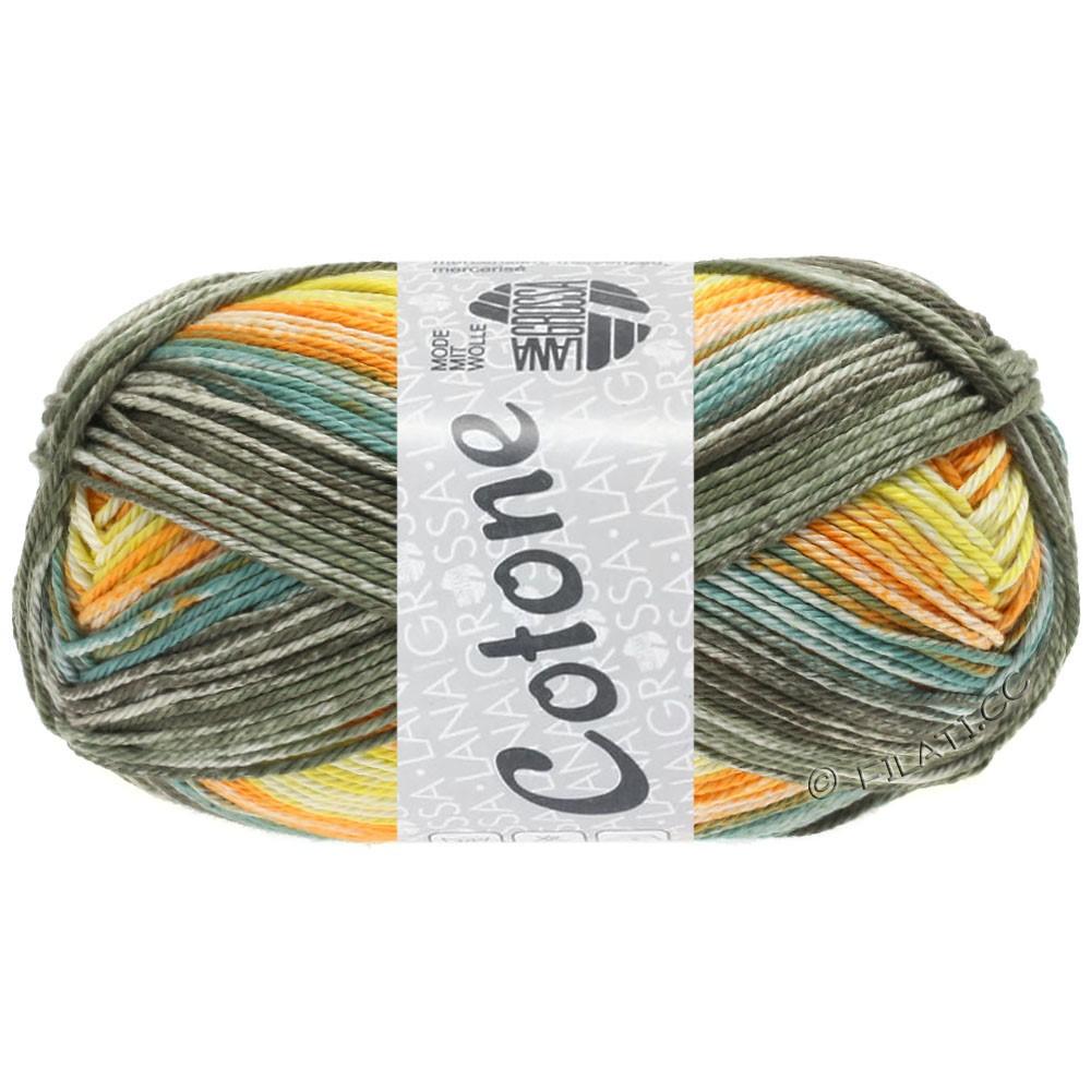 Lana Grossa COTONE  Print/Denim | 258-giallo/arancio/cachi/verde grigio