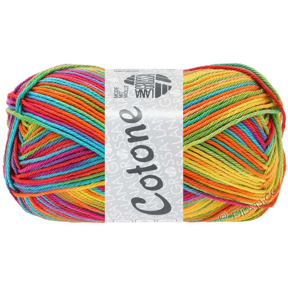 Lana Grossa COTONE  Print/Denim | 306-giallo/arancio/turchese  /verde/corallo/viola