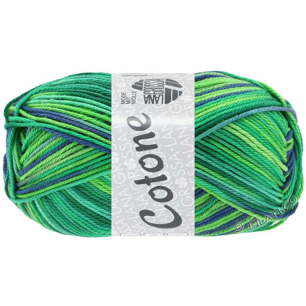 Lana Grossa COTONE  Print/Denim | 311-smeraldo/verde chiaro/ottanio/reale