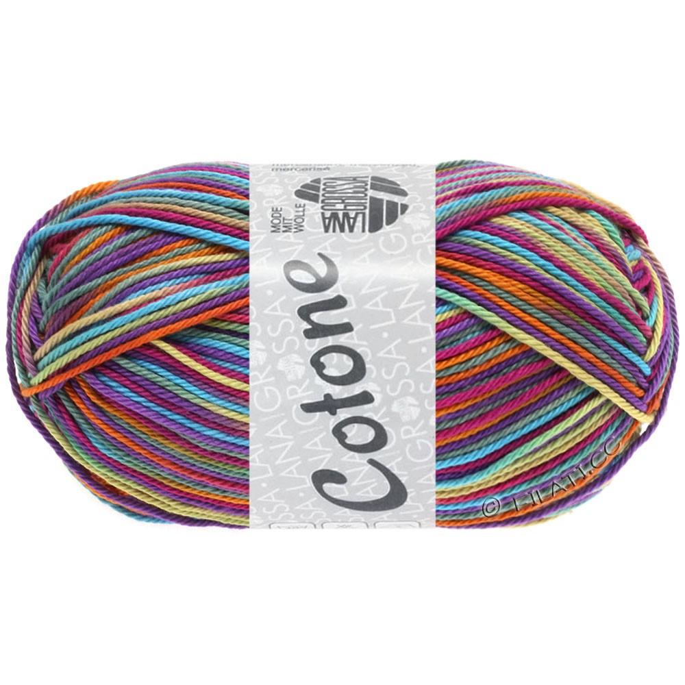 Lana Grossa COTONE  Print/Denim | 321-ciclamino/viola rosso/turchese  /arancio/verde grigio/beige