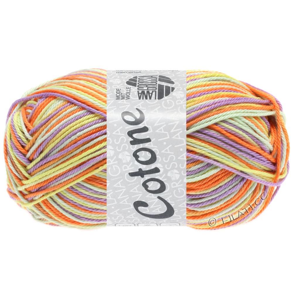 Lana Grossa COTONE  Print/Denim | 325-vaniglia/porpora/arancio/verde pallido