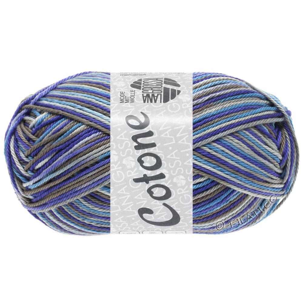 Lana Grossa COTONE  Print/Denim | 326-grigio chiaro/grigio scuro/blu violetto/blu colomba