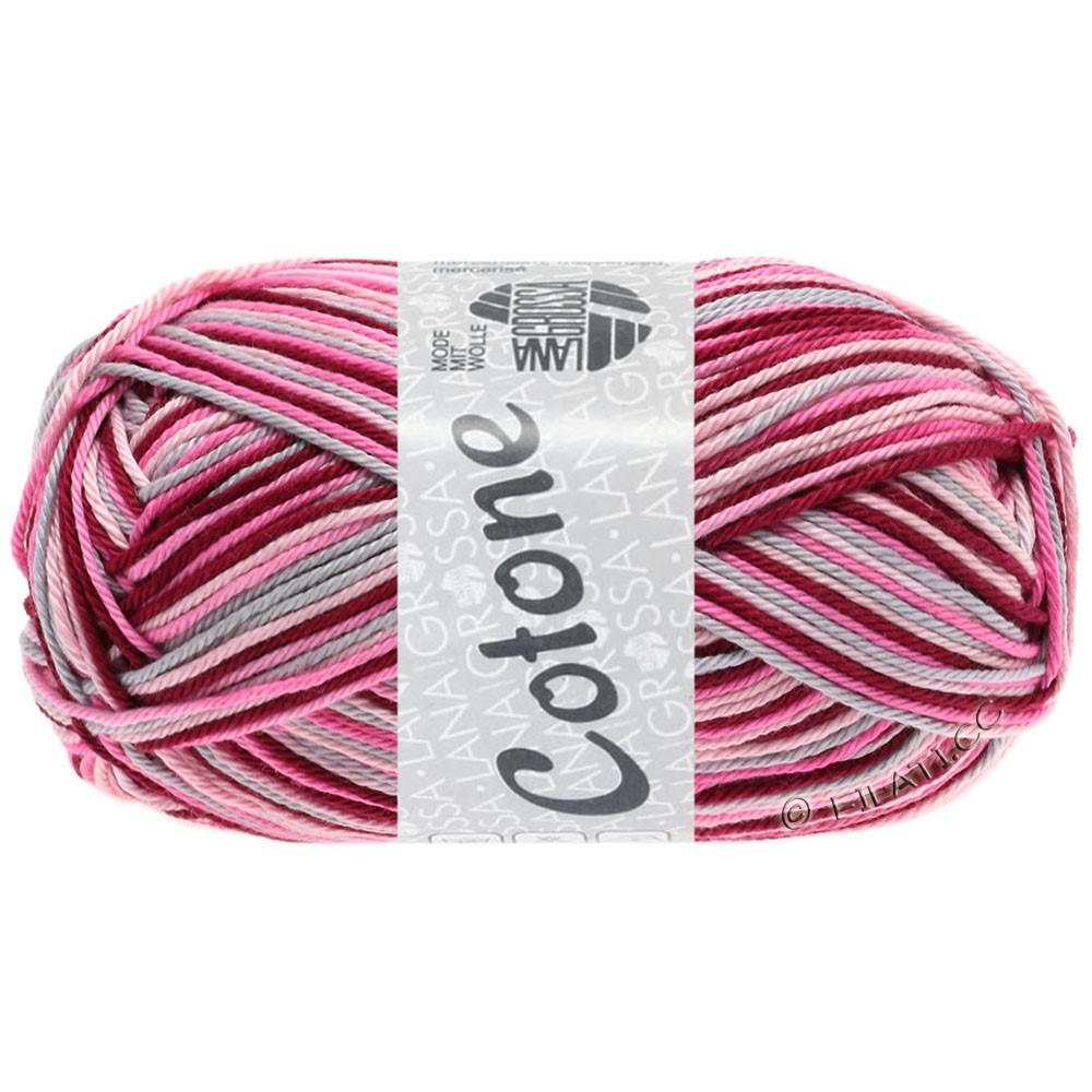 Lana Grossa COTONE  Print/Denim | 327-rosa/rosa vivo/bordó/grigio chiaro