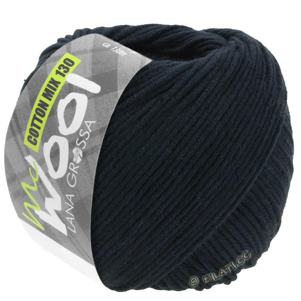 Lana Grossa COTTON MIX 130 (McWool) | 118-nero