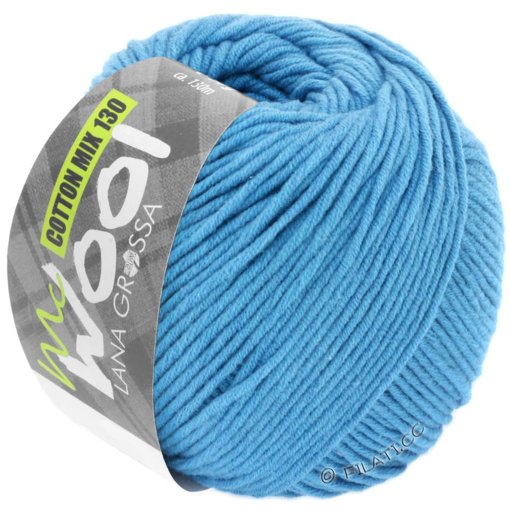 Lana Grossa COTTON MIX 130 (McWool) | 137-azzurro