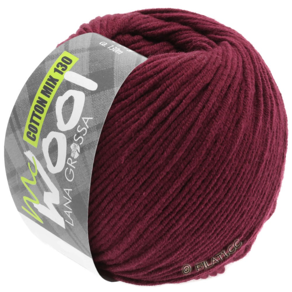 Lana Grossa COTTON MIX 130 (McWool) | 142-bordó