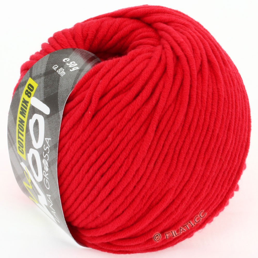 Lana Grossa COTTON MIX 80 (McWool)   503-rosso