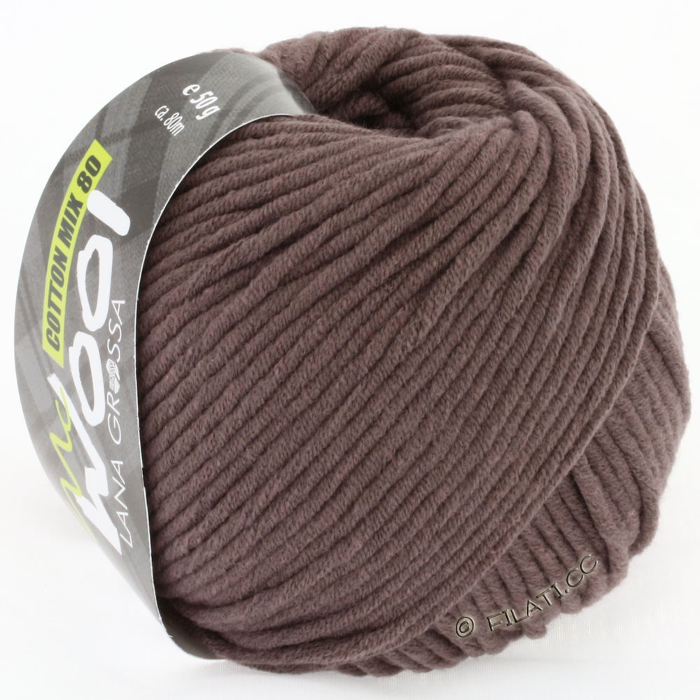 Lana Grossa COTTON MIX 80 (McWool)   514-marrone cioccolato