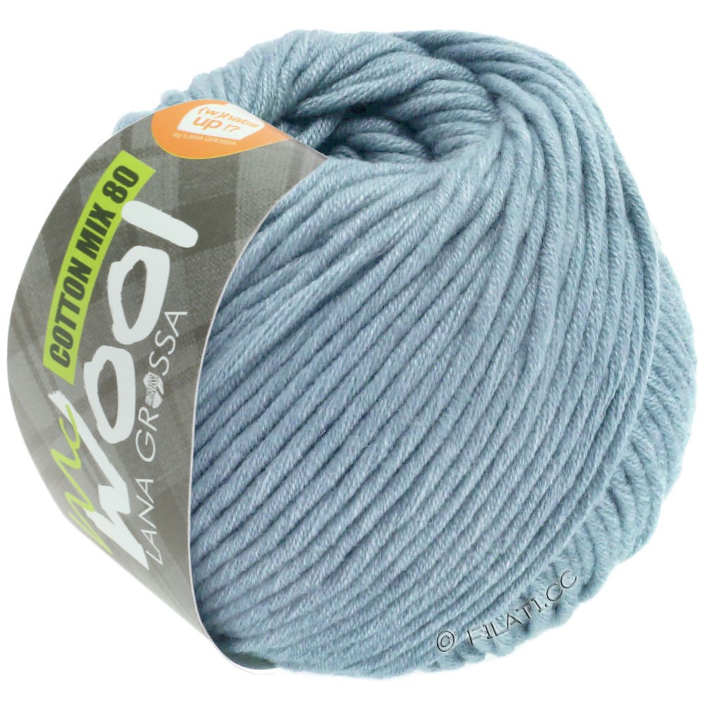 Lana Grossa COTTON MIX 80 (McWool)   550-blu chiaro