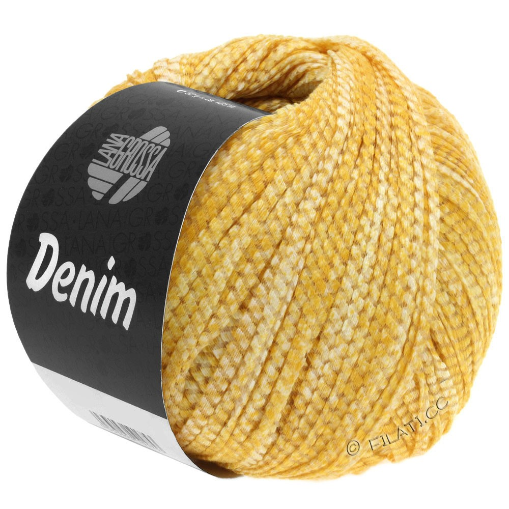 Lana Grossa DENIM   08-giallo/bianco