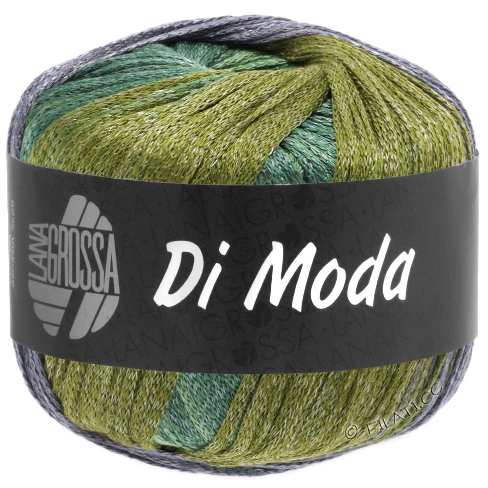 Lana Grossa DI MODA | 18-oliva/viola antico/verde scuro/verde medio