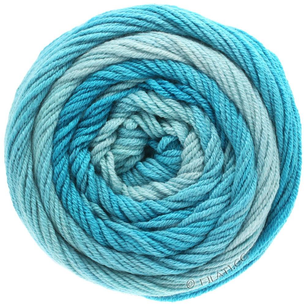 Lana Grossa ELASTICO Degradé   704-blu chiaro/turchese pastello/blu turchese