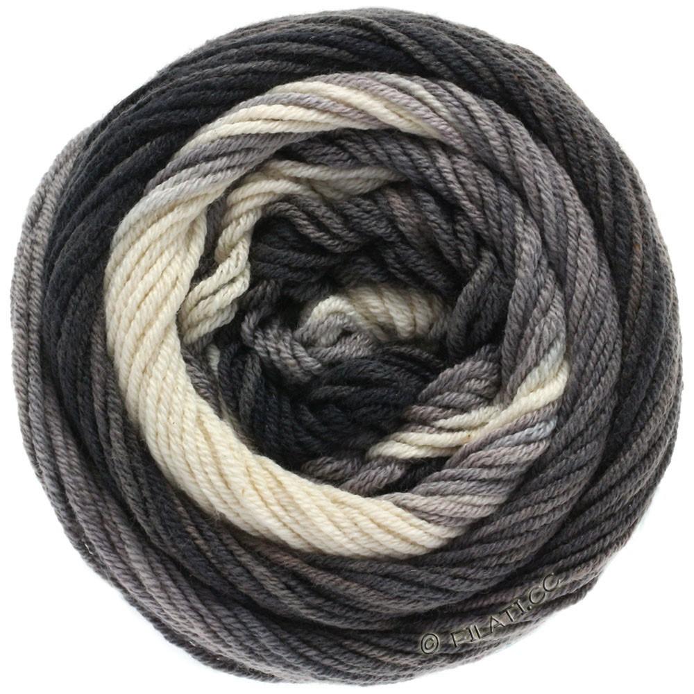Lana Grossa ELASTICO Degradé   709-natura/grigio chiaro/grigio medio/antracite/nero