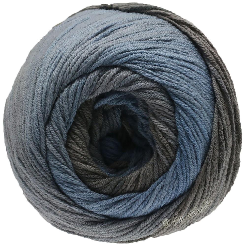 Lana Grossa ELASTICO Degradé   712-blu fumo/grigio medio/grigio marrone