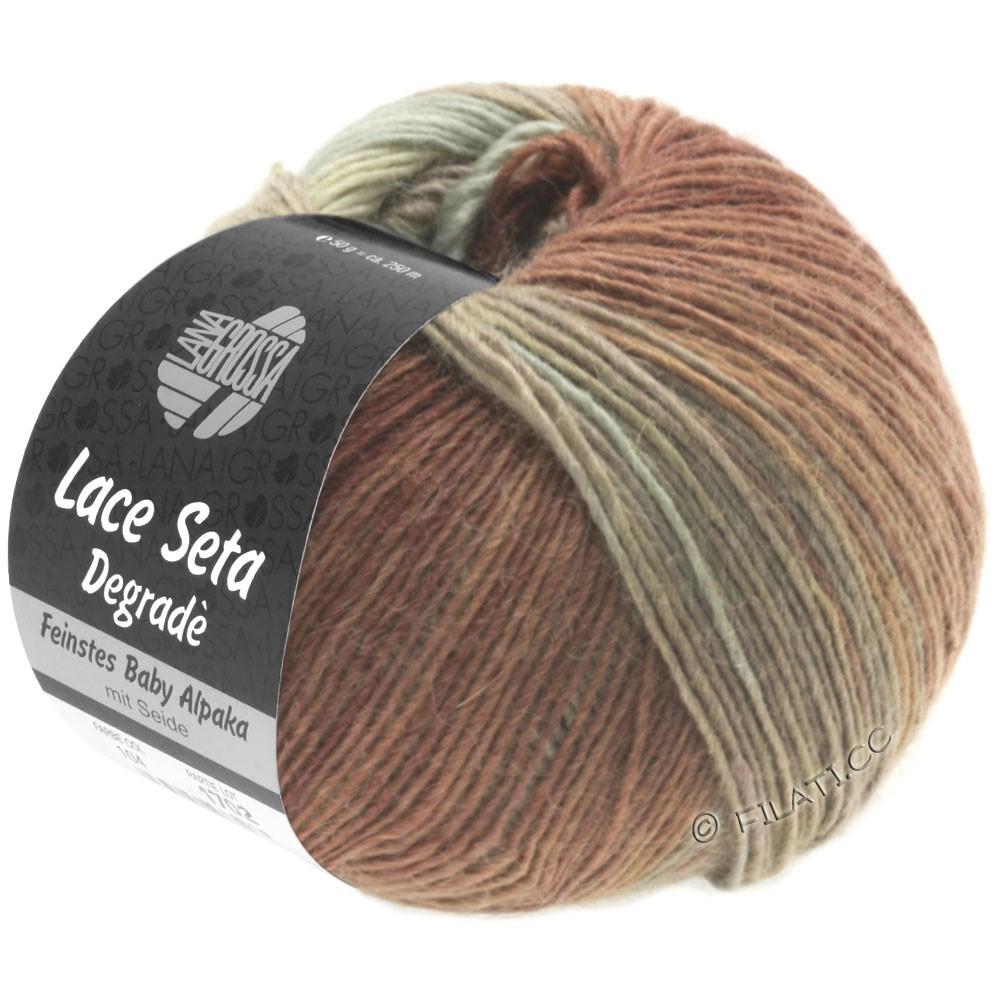 Lana Grossa LACE Seta Degradé | 115-natura/grigio verde/torrone/marrone cioccolato