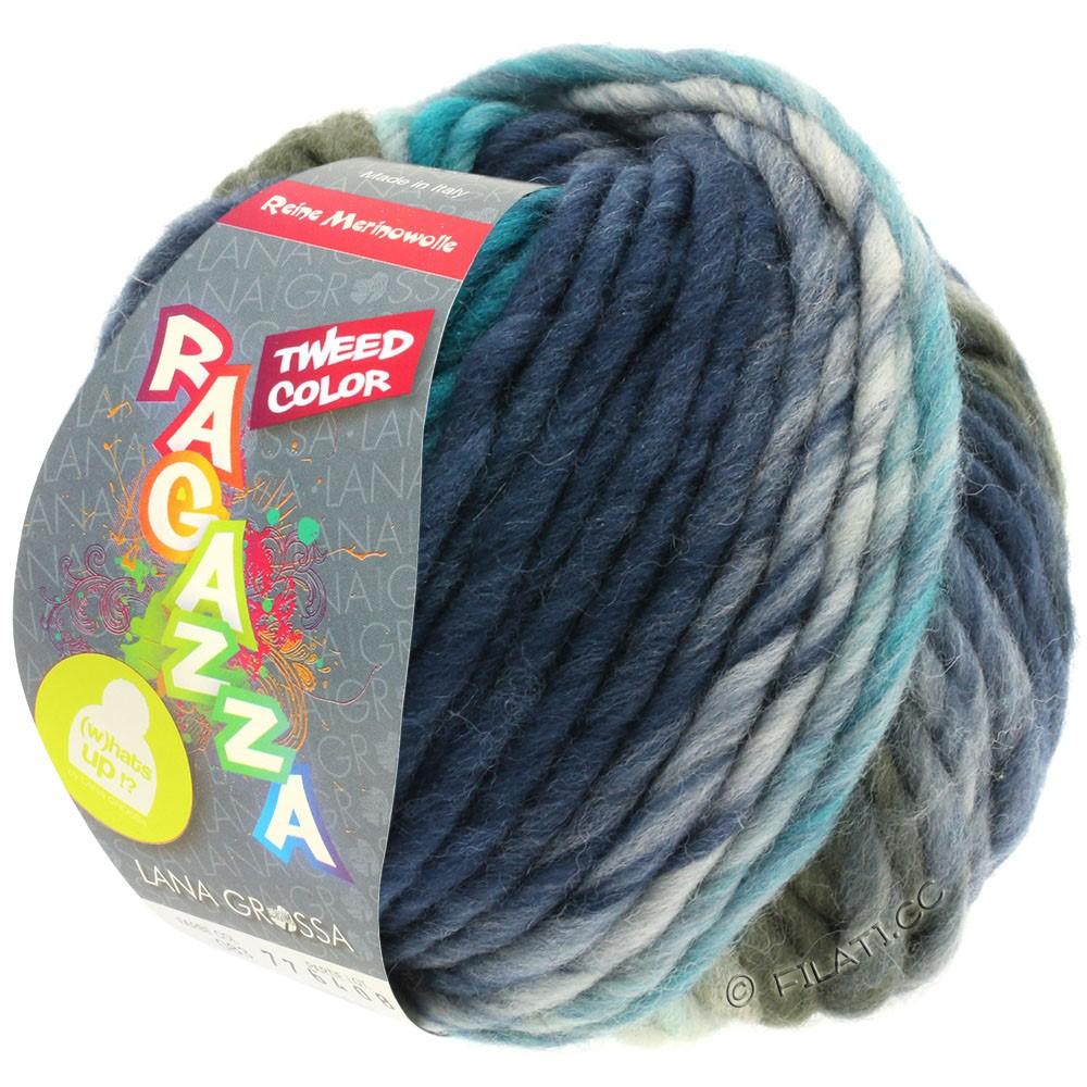 Lana Grossa LEI Tweed Color (Ragazza) | 403-blu chiaro/grigio blu/blu scuro puntinato