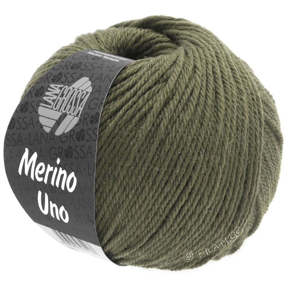 Lana Grossa MERINO UNO   19-grigio verde