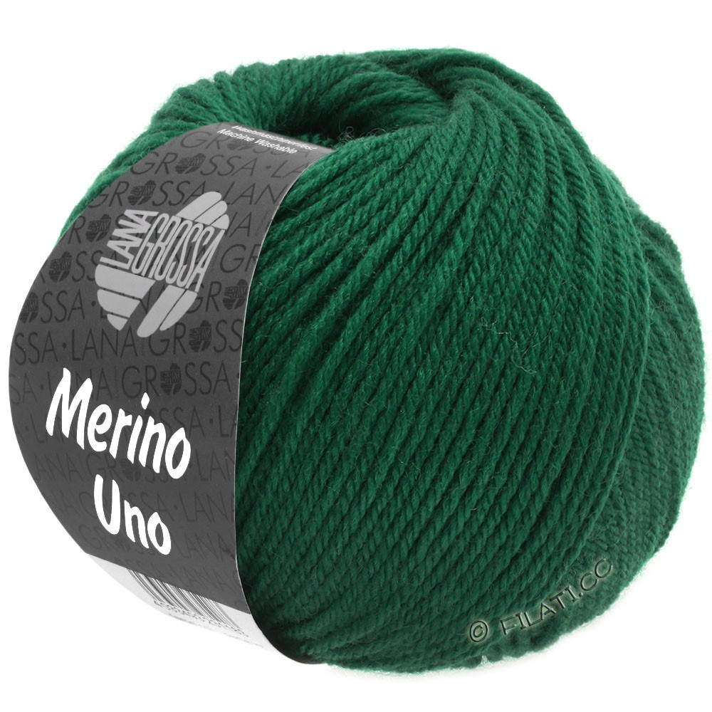 Lana Grossa MERINO UNO   22-verde bottiglia