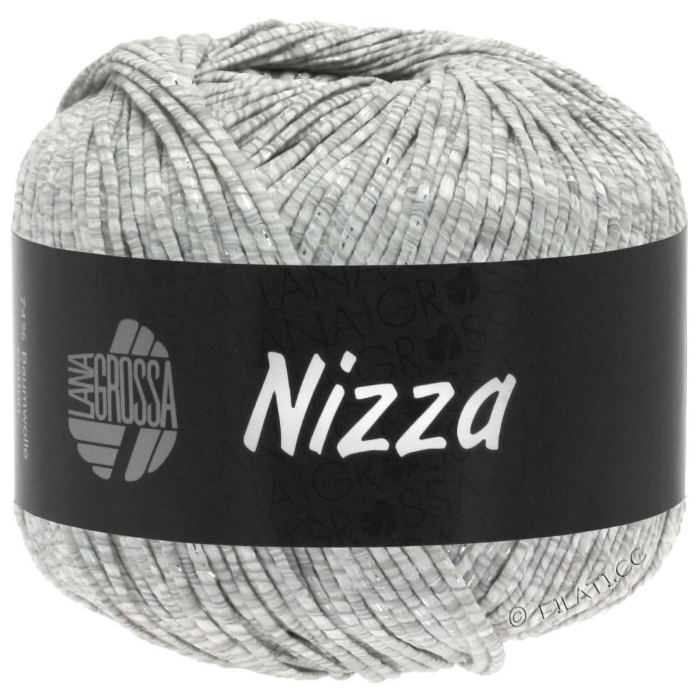Lana Grossa NIZZA | 01-bianco/grigio chiaro/argento