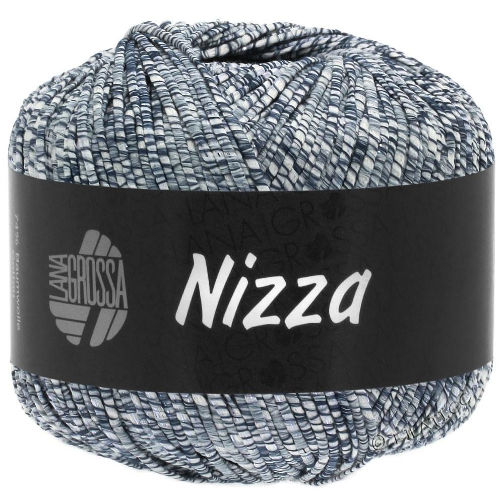 Lana Grossa NIZZA | 05-bianco/jeans/argento