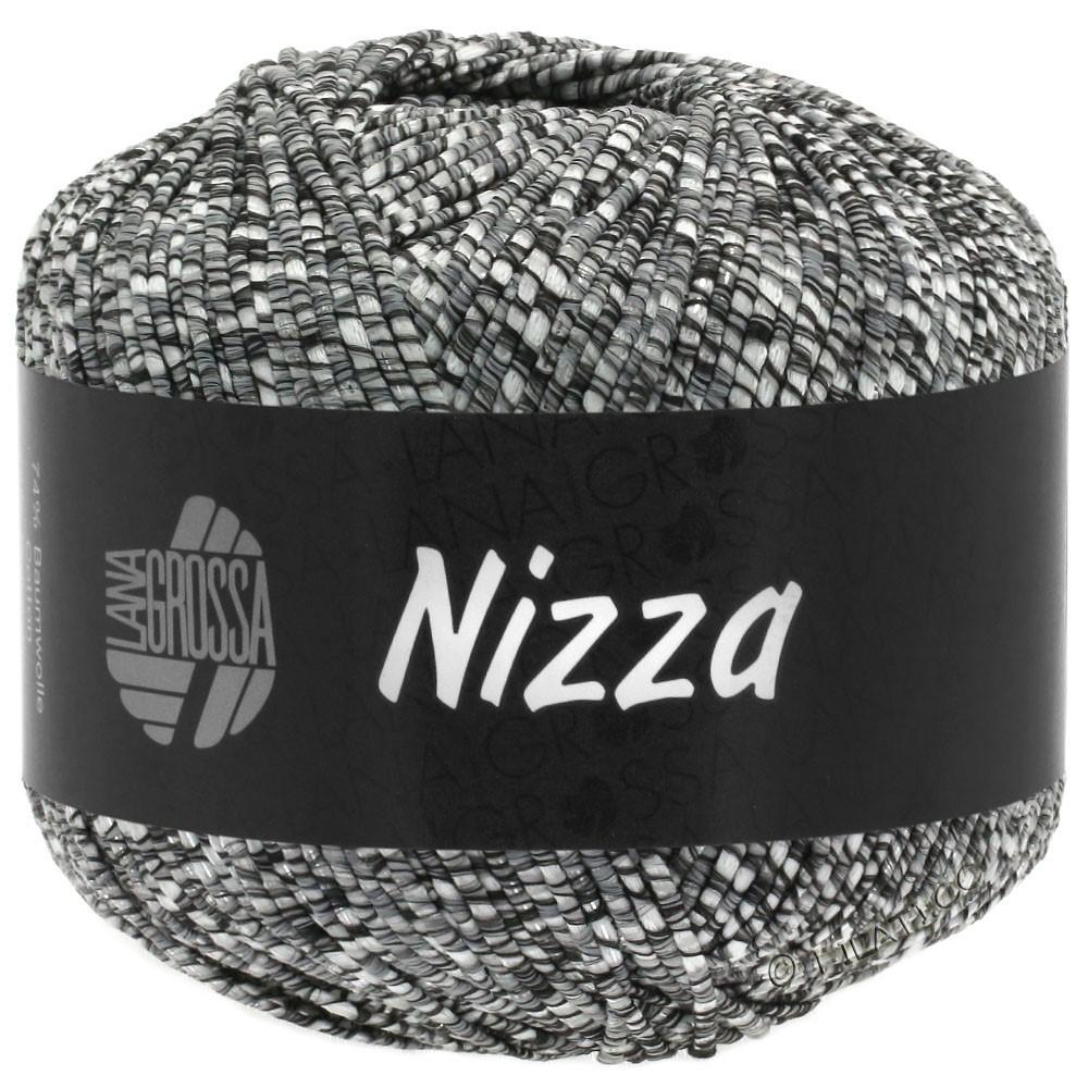Lana Grossa NIZZA | 11-natura/grigio scuro/argento