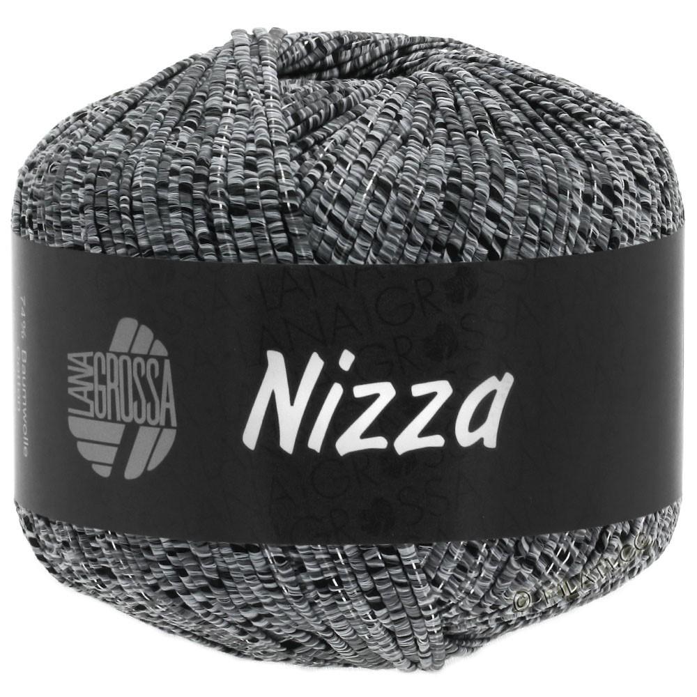 Lana Grossa NIZZA | 12-grigio chiaro/nero/argento