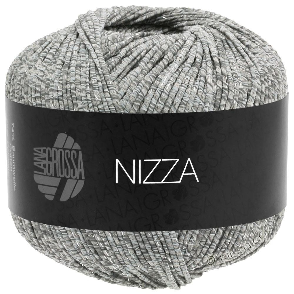 Lana Grossa NIZZA | 13-bianco/grigio/beige/argento