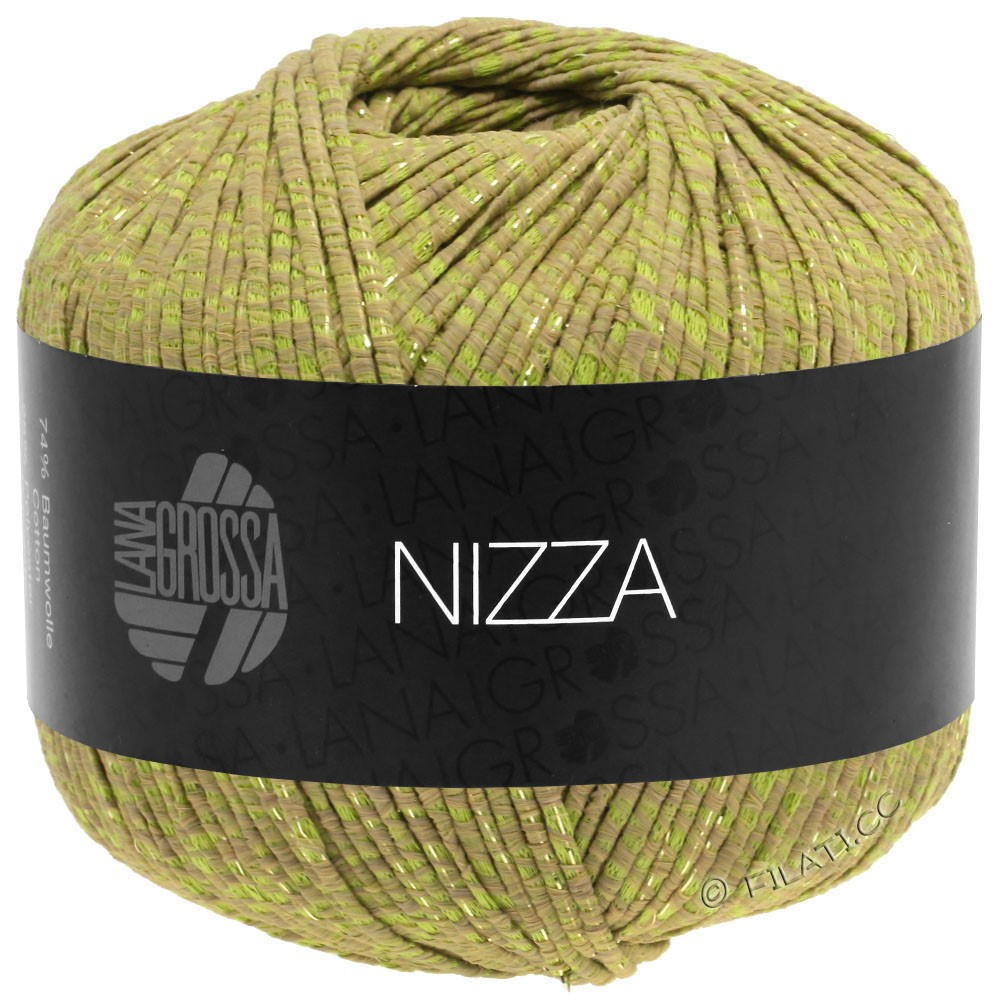 Lana Grossa NIZZA | 14-cammello/verde giallo/oro