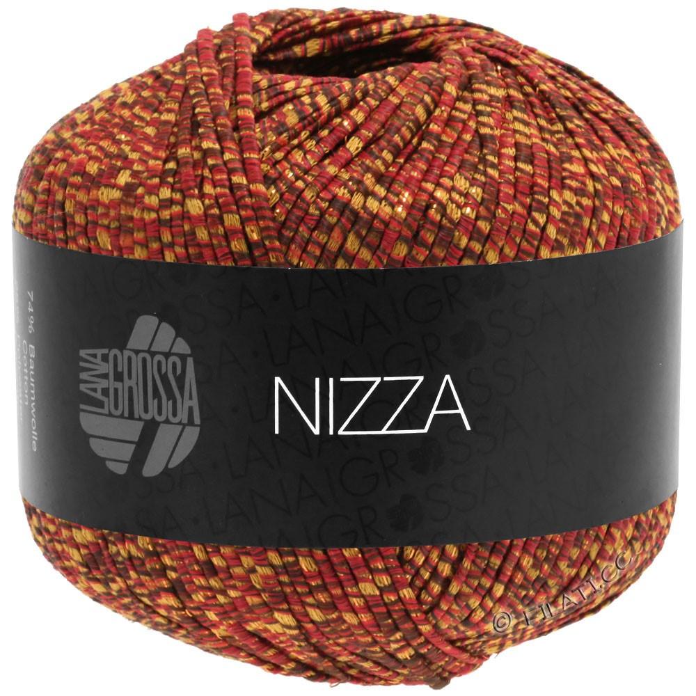 Lana Grossa NIZZA | 16-borgogna/giallo senape/oro
