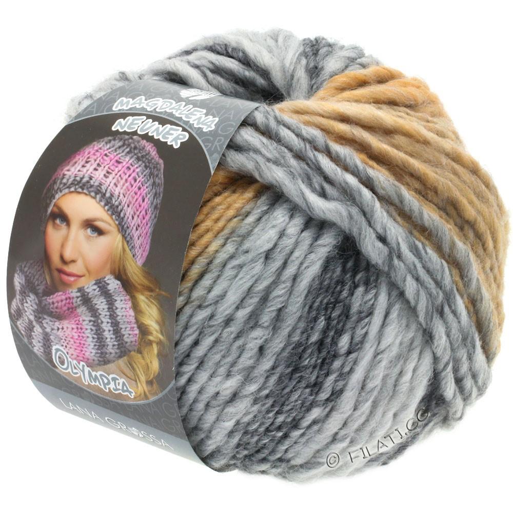 Lana Grossa OLYMPIA Grey | 806-grigio scuro/grigio chiaro/grigio delicata/beige/cammello