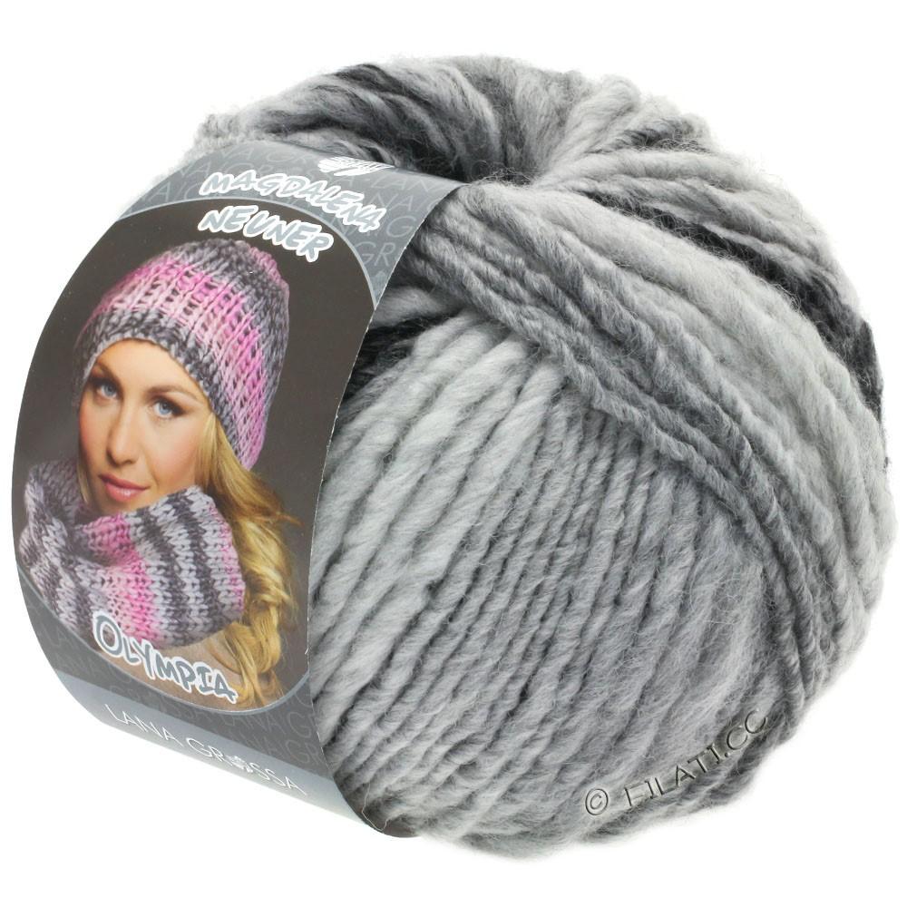 Lana Grossa OLYMPIA Grey | 812-antracite/grigio scuro/grigio chiaro/grigio argento
