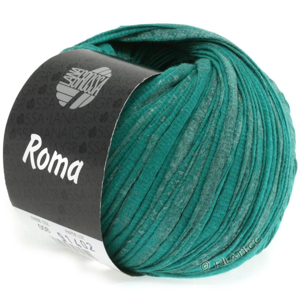 Lana Grossa ROMA   008-verde opale/argento