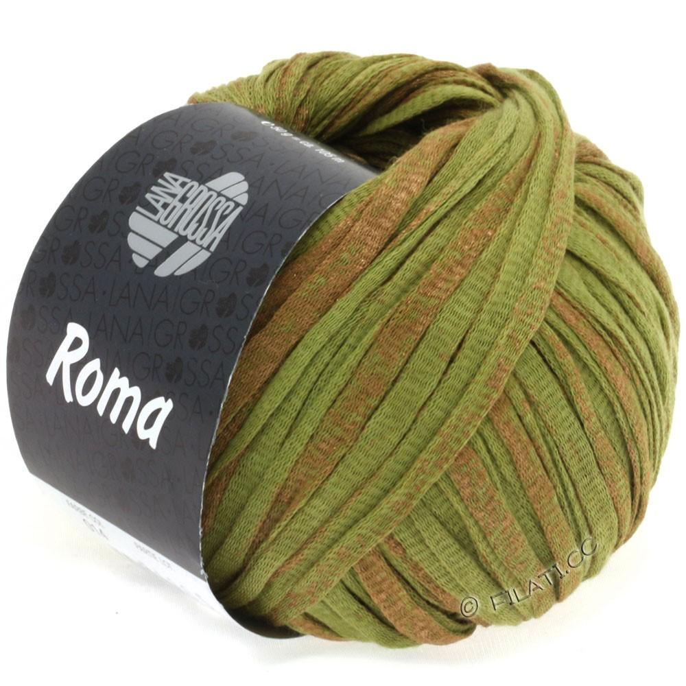 Lana Grossa ROMA   014-oliva/rame